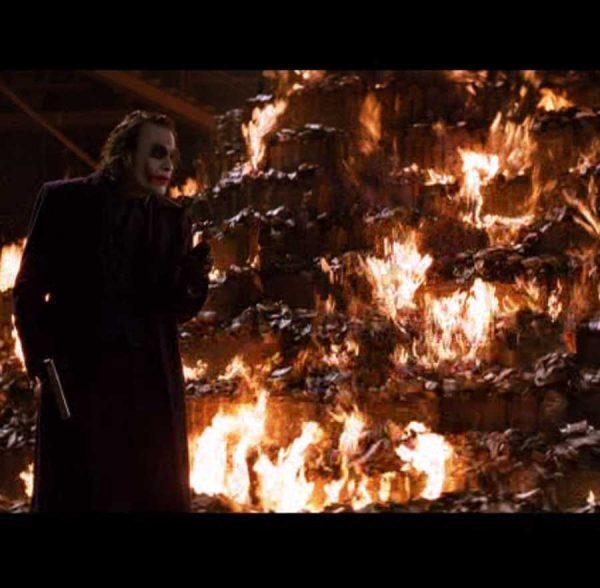 Batman: The Dark Knight Prop Burnt $100 Bills